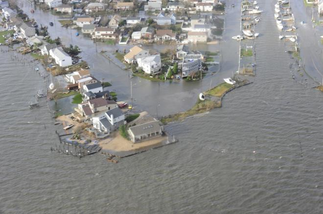 Hurricane Sandy drowned the New York coastline.